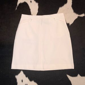 The Limited white a-line skirt, size 2